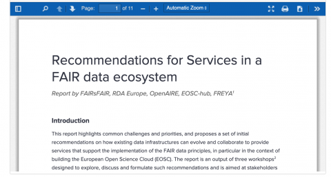 Recommendations for Services in a FAIR data ecosystem