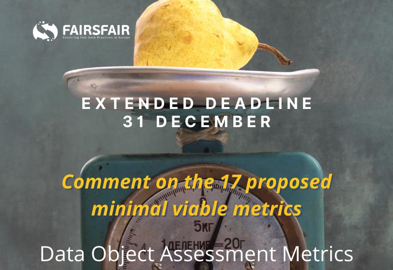 FAIRsFAIR Data Object Assessment Metric